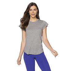 Warrior by Danica Patrick Slub Knit Flutter-Sleeve Tee
