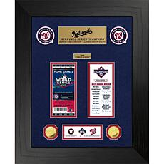 Washington Nationals 1X World Series Champions Gold Coin Ticket Set