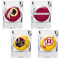 Washington Redskins 4pc Collector's Shot Glass Set