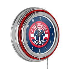Washington Wizards Double Ring Neon Clock