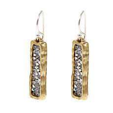 """Waxing Poetic® """"Kristal Verve"""" Scattered Crystal Bar Drop Earrings"""