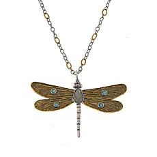 "Waxing Poetic® ""Transformative"" Dragonfly Pendant with Chain"