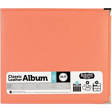 "We R Memory Keepers Classic Leather D-Ring Album 12"" x 12"" - Coral"
