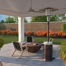Well Traveled Living Ash & Stainless Steel Performance Patio Heater
