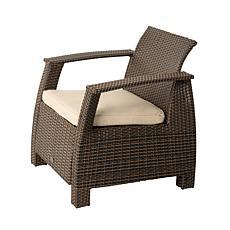 Well Traveled Living Bondi Deluxe Armchair In Mocha Wicker