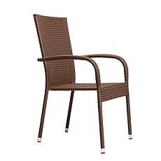 Well Traveled Living Morgan Outdoor Wicker Chair - Mocha