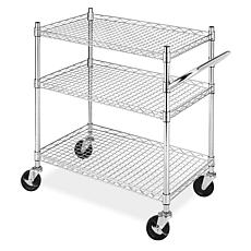 Whitmor Rolling 3-Tier Commercial Cart - Chrome