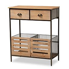 Wholesale Interiors Abram Wood and Metal 2-Drawer Storage Cabinet