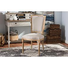 Wholesale Interiors Cadencia Upholstered Dining Chair - Oak/Beige