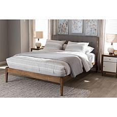 Wholesale Interiors Clifford Fabric and Wood Full-Size Platform Bed