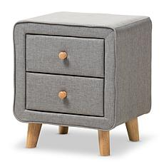 Wholesale Interiors Jonesy Fabric Upholstered 2-Drawer Nightstand
