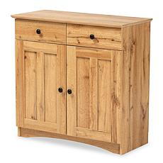 Wholesale Interiors Lauren Oak Finished Wood 2-Door Buffet Cabinet