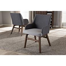 Wholesale Interiors Monte Fabric 2-piece Armchair Set - 2-Tone Gray