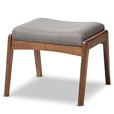 Wholesale Interiors Roxy Upholstered Ottoman - Walnut