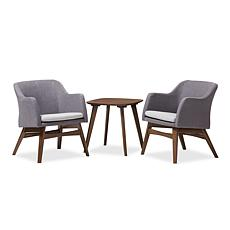 Wholesale Interiors Vera 3-Piece Lounge Chair and Side Table Set