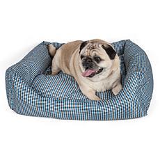 Wick-Away Plaid Rectangular Dog Bed - Medium