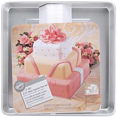 "Wilton Deep Cake Pan Set - 8"", 12"" and 16"" Square"