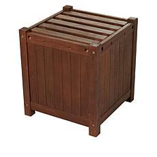 Wind and Weather Eucalyptus Wood Box Planter