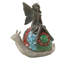Wind and Weather Fairy on Snail Resin Statuette
