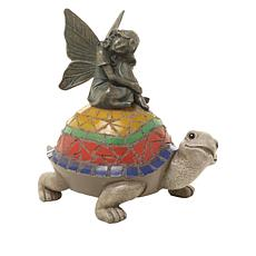 Wind and Weather Fairy on Turtle Resin Statuette