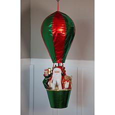 Wind and Weather LED Santa in Hot Air Balloon
