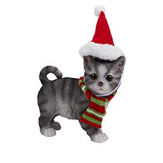 Wind and Weather Painted Kitten with Removable Hats and Scarf