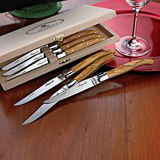 Wine Enthusiast Set of 6 Jean Dubost Steak Knives