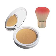 Winky Lux Diamond Complexion Powder w/Brush - Med/Deep