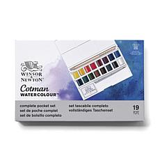 Winsor & Newton Cotman Water Color Deluxe Sketchers' Pocket Box - 16k