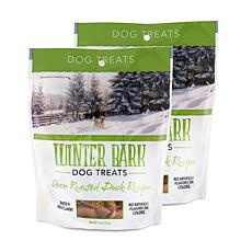 Winter Bark Oven Roasted Duck Recipe Dog Treats 2 Pack 5 oz
