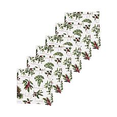 Winter Botanical Napkin Set of 6