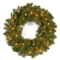 "Winter Lane 24"" Kincaid Spruce Wreath w/Lights"