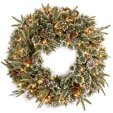 "Winter Lane 24"" Liberty Pine Wreath w/Lights"