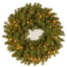 "Winter Lane 24""  Norwood Fir Wreath w/Lights"