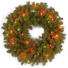"Winter Lane 24""  Norwood Fir Wreath w/Multicolor"