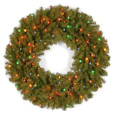 "Winter Lane 36"" Norwood Fir Wreath w/Multicolor"