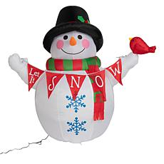 Winter Lane 5' Inflatable Lighted Snowman