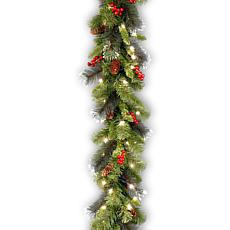 Winter Lane 9'  Crestwood Spruce Garland w/Lights