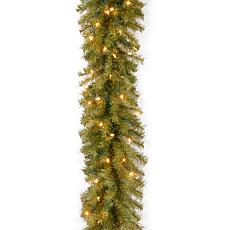 Winter Lane 9' Norwood Fir Garland w/Lights