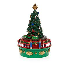 Winter Lane Carnival Christmas Tree Mini Music Box