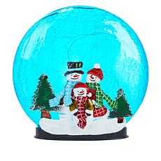 Winter Lane Crackle Glass Holiday Disk