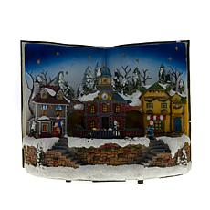 Winter Lane Lighted Musical Holiday Book with Moving Train