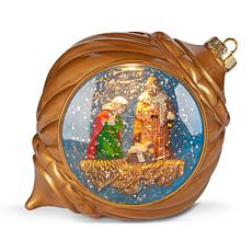clearance winter lane musical lighted globe ornament