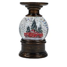 Winter Lane Truck-Design Water Globe Candle Holder
