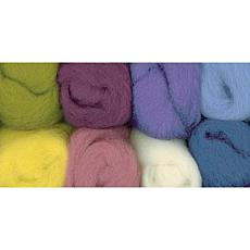 Wistyria Editions 8-pack Ultra Fine 100% Wool Roving
