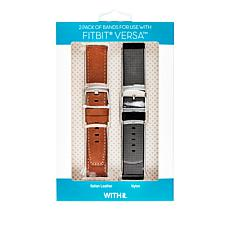 WithIT 2-pack of Accessory Bands for Fitbit Versa