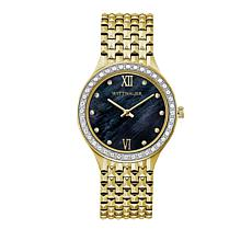 Wittnauer .20ctw Diamond Bezel Goldtone Stainless Steel Watch
