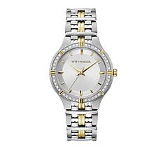 "Wittnauer ""Laureate"" Diamond 2-Tone Goldtone Stainless Steel Watch"