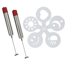 Wolfgang Puck 2-pack Stainless Steel Frothing Pens with Gift Boxes