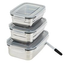 Wolfgang Puck 3-piece Stainless Steel Food Storage Containers